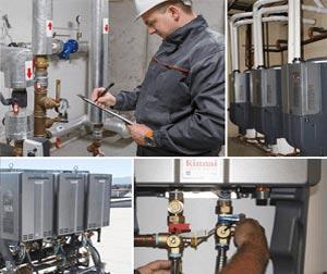 Man servicing gas tanks